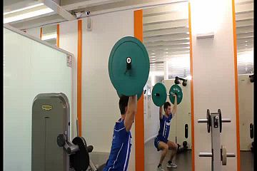 Clean and jerk squat frontal
